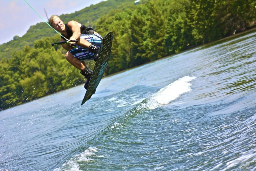 Lake Murray wakeboarding