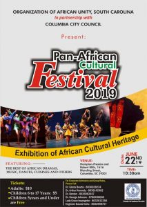 pan african festival poster columbia south carolina